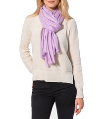 amicale women's fringed cashmere scarf - purple