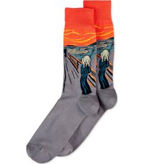 hot sox men's socks, the scream