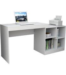 escrivaninha e mesa p/ computador moove branco appunto - tricae