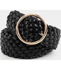 lilly braided belt - black