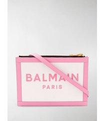 balmain three-pouches 22 canvas bag