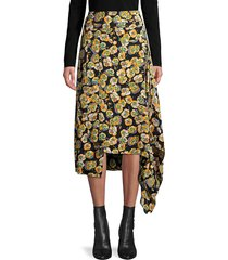 marni women's floral midi skirt - light orange - size 38 (2)