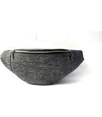 doppio mini nerka z szarej plecionki