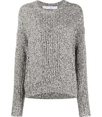 iro kamen open-knit sweater - white