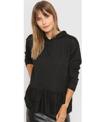 sweater negro destino collection con volados