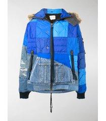 greg lauren patchwork padded jacket