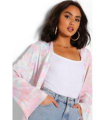 mini kimono met tie dye, lila