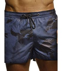 hombres camuflaje impreso corto cuerda pantalones holiday playa bañador
