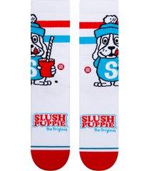 men's stance slush puppie crew socks, size large - white