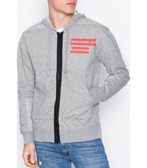 jack & jones jcoclone sweat hood ltd tröjor ljus grå