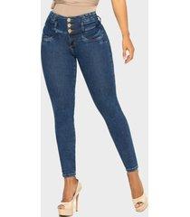 jeans push up azul medio cheviotto