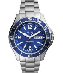 fossil men's fb-02 stainless steel bracelet watch 48mm