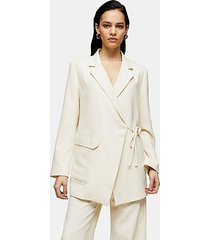 *ivory wrap suit blazer by topshop boutique - ivory