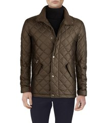 men's cole haan quilted jacket, size x-large - green