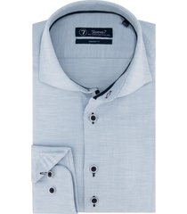 sleeve7 heren overhemd lichtblauw herringbone modern fit