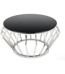 stolik kawowy malindi silver black 80 cm