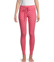 honeydew intimates women's evie star-print lounge leggings - poppy stars - size l