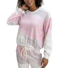 splendid sun-wash bubble sleeve sweatshirt