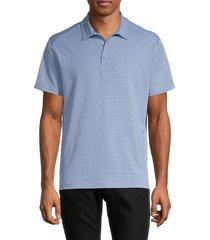 bonobos men's standard-fit flatiron jacquard golf polo - triangle blue - size xl
