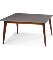 mesa de madeira retangular 140x90 cm novita 609 cacau/lilás - maxima