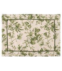 jogo americano linen garden oliva - verde