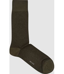 reiss ollie - cotton blend textured socks in khaki, mens