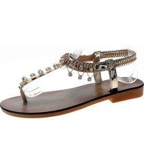 chanclas sandalias mujer pedrería