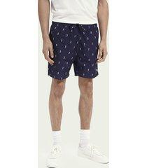 scotch & soda printed recycled polyester swim shorts