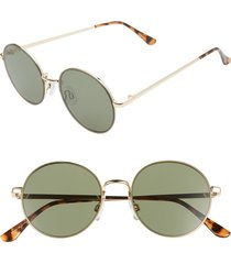 women's bp. 51mm round metal sunglasses - gold