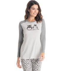 pijama corujas longo