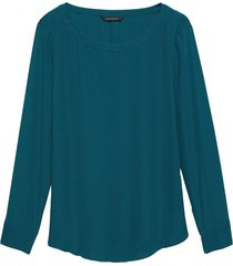 blusa rew high low tee solids rosa banana republic