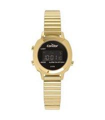 relógio feminino condor digital - cojh512ah4p dourado
