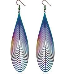 orecchini a spirale in acciaio inox a goccia a goccia con cristalli colorati