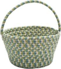 easter spring mix braided basket