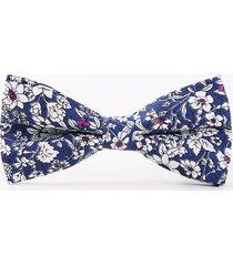 cravatte regolabili per cravatta a farfalla da uomo casual in cotone con stampa bowtie