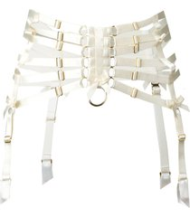 bordelle webbed suspender belt - neutrals