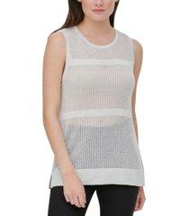 calvin klein sheer sleeveless sweater