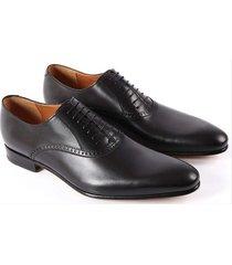 handmade mens black oxford leather shoes, classic mens black dress shoes,