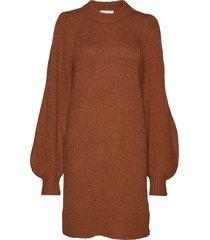 caress sleeve dress stickad klänning brun designers, remix
