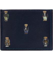 polo ralph lauren men's polo bear leather card case