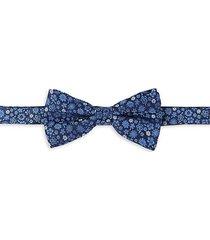 floral-print silk bow tie