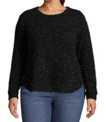 john paul richard plus size metallic pullover sweater