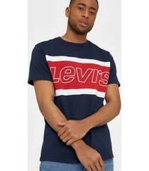 levis ss color block tee jersey colo t-shirts & linnen navy