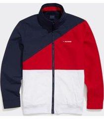 tommy hilfiger men's adaptive colorblock yachting jacket navy blazer / bright white - s