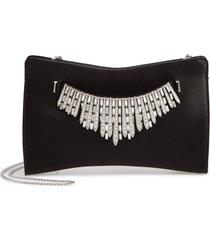jimmy choo satin clutch with crystal tiara bracelet -