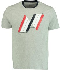 armani exchange grijs t-shirt grafisch logo 3hztbp.zj2hz/3901