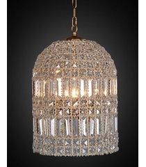 lustre de cristal boscolo com 4 lâmpadas