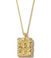 aquarius zodiac pendant necklace