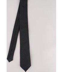 gravata masculina em jacquard estampada de poá preta