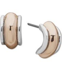 "anne klein two-tone small c-hoop earrings, 0.5"""